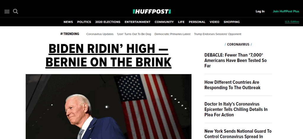 HuffPost (Huffington Post formerly)