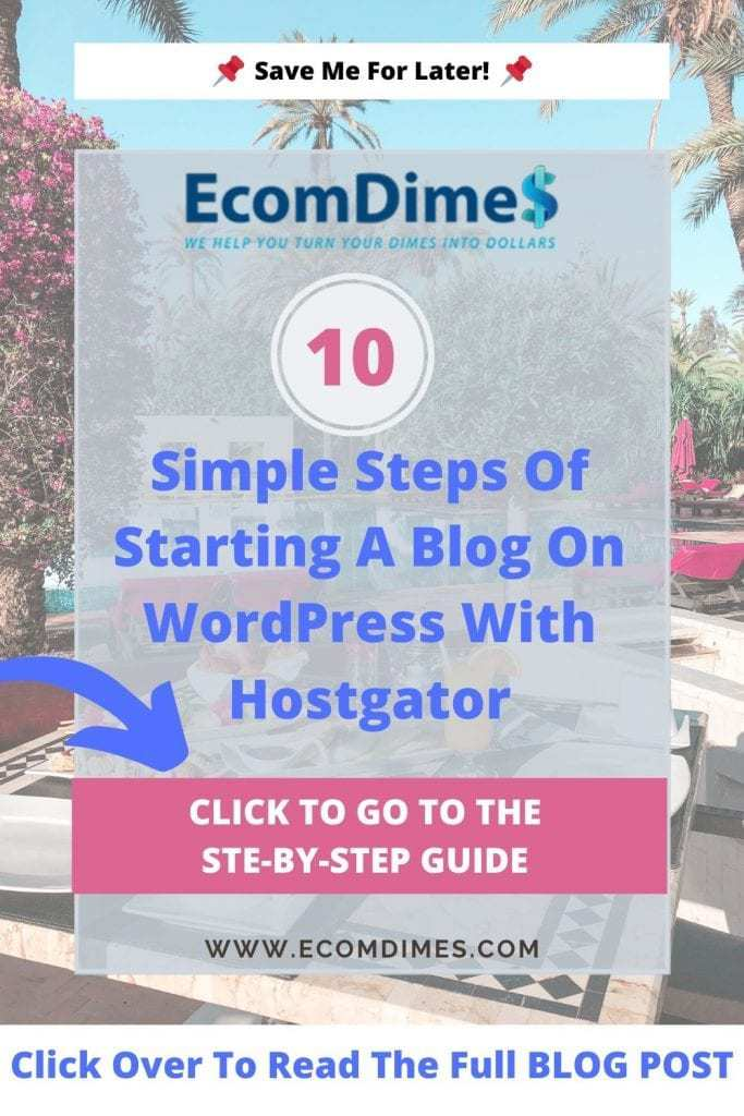 Starting a blog has never been easier nowadays. Exclusively for EcomDimes readers, you can start your blog today from as low as $2.75! Equivalent to a cup of latte from Starbucks! This article is a step by step guide for how to start a blog from scratch!#blogging #bloggingtips #startablog #startblogging #bloggingincome #startyourblog #howtostartablog